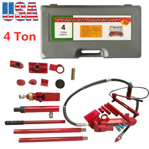 4 Ton Porta Power Hydraulic Jack Body Frame Repair Kit Auto Shop Tool Lift Us