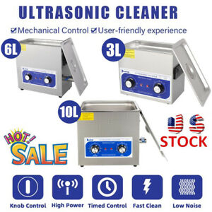 Stainless Steel 3 6 10l Ultrasonic Cleaner Industry Jewelry Heated Heater Timer