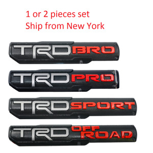2x Trd Pro Off Road Bro Sport Door Emblem Sticker Badge Fits Toyota Tacoma