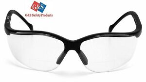 Clear Scratch resistant Bifocal Safety Reading Glasses 2 0 Diopter