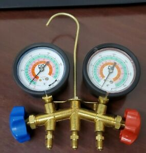 co jb Industries 2 valve Hvac Manifold Gauge With Hose Set Usa