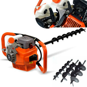 71cc 2 stroke Gasoline Gas One Man Post Hole Digger Earth Auger Machine