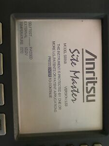 Used Anritsu S331b Sitemaster Cable Antenna Analyzer