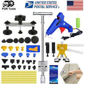 46 Pdr Paintless Dent Repair Slide T Bar Hammer Puller Tools Kits Hail Removal