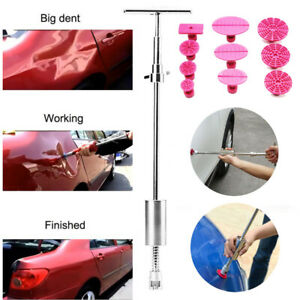 11pc Pdr Tools Dent Puller T Bar Slide Hammer Paintless Hail Removal Repair Kit