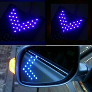 Side View Mirror Arrow Turn Signal 33 Smd Led Sequential Blue Retrofit X 2