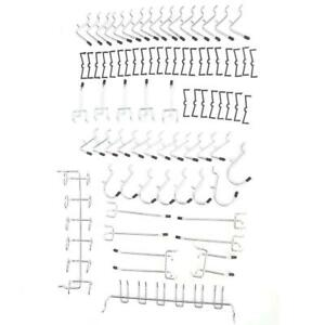 80pcs Pegboard Hook Assortment Kit Storage Shop Garage Organizing Tools Hanger