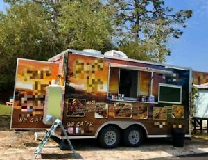2018 8 5 X 16 Rock Solid Cargo Food Concession Trailer Mobile Kitchen For Sa