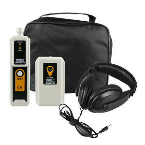 Ultrasonic Leak Detector Transmitter Locator Air Water Dust Tester Headphone
