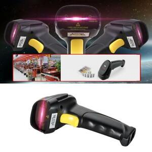 Automatic Barcode Scanner Usb Laser Scan Barcode Reader With Handheld Stand M4