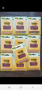 Lot Of New 10 Packs Post it Notes Super Sticky