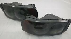 2002 2003 2004 2005 Dodge Ram 1500 2500 Complete Headlight Set smoke Lens