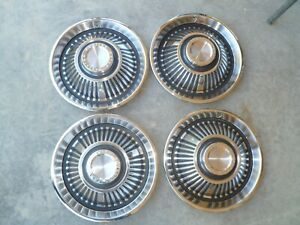 1964 71 Pontiac Gto Lemans Dog Dish Hubcap Set