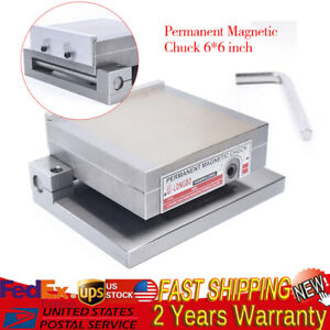 Permanent Magnetic Chuck 6 X 6 Magnet Sine Plate For Grinders Tool Grinders