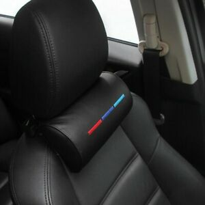 For Bmw Rest Foams Pillow Leather Cushion Pad Black Car Seat Head Neck Accessory