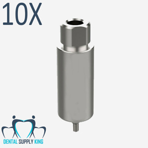 10 X Arum Premill Blank 10mm Engaging For Zimmer 3 5 Connection Dental Implants