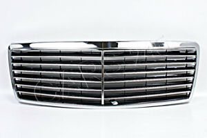 Mercedes S Class W140 Sedan Facelift 1995 1998 Front Chrome Central Grill