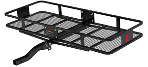 Curt 18153 60 X 24 Inch Basket Hitch Cargo Carrier 500 Lbs Capacity Black Steel