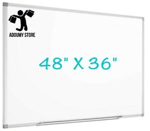 New Magnetic Whiteboard Large Wall Mounted Dry Erase With Detachable Pen Tray