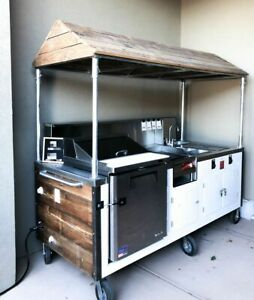 2017 3 5 X 8 Food Vending Concession Kitchen Event Catering Cart For Sale I