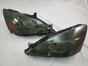 2003 2004 2005 2006 Honda Accord Jdm Direct Replacement Headlight Set Smoke