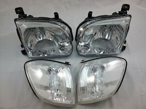 2005 2006 Toyota Tundra Double Cab 2005 2006 2007 Sequoia Chrome Headlight Set