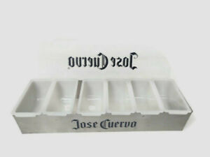 Jose Cuervo Bar Condiment Tray Holder Container 6 Tray Man Cave