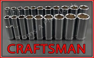 Craftsman Hand Tools 20pc 3 8 Deep Sae Metric Mm 6pt Ratchet Wrench Socket Set