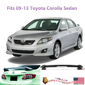 Fit For Toyota Corolla Sedan 2009 2013 Unpainted Trunk Spoiler Led 3rd Brake
