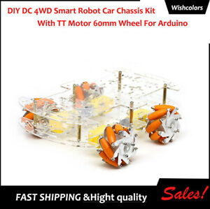 Diy Dc 4wd Smart Robot Car Chassis Kit With Tt Motor 60mm Wheel For Arduino