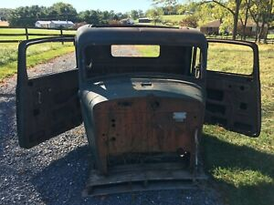 1933 34 35 Dodge Pickup Truck Cab With Suicide Doors Dash Hood Hot Rat Rod