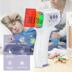 Digital Infrared Forehead Thermometer Non contact Laser Medical Temperature Gun