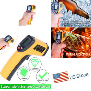 Digital No touch Lcd Ir Laser Industrial Infrared Temperature Thermometer Gun Us