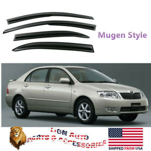 Fit For Toyota Corolla 2003 2008 Mugen Style Acrylic Window Visors