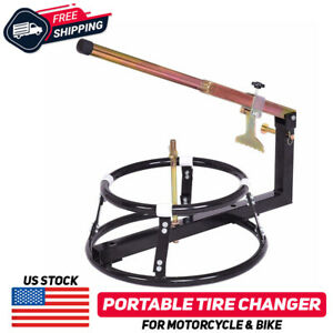 Portable Motorcycle Bike Tire Wheels Changer Changing Balancer Machine Manual