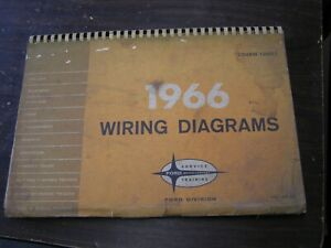 Oem Ford 1966 Wiring Diagram Book Galaxie Fairlane Mustang Falcon Truck Bronco