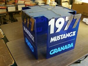Oem Ford 1977 Mustang Ii 2 Ltd Maverick Pinto Granada Showroom Hanging Display