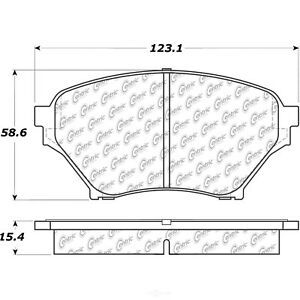 Disc Brake Pad Set Fits 2001 2005 Mazda Miata Centric Parts