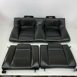 2005 2009 Oem Ford Mustang Coupe Base Rear Black Leather Back Seats s7129