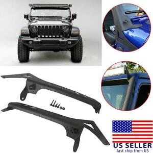 Roof Mount Bracket Fit 50 Led Light Bar With A Pillar Deck For Jeep Wrangler Jl