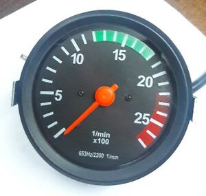 Tachometer 0 2700 Rpm 100mm Alternator Driven Type With W Terminal 24v