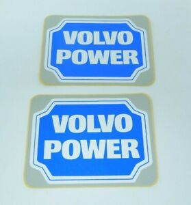 Vintage Volvo Power Sport Racing Decals Stickers Window Emblems Car Logo