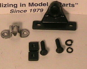1928 1929 Model A Ford Front And Rear Center Hood Hinge Retainer Set
