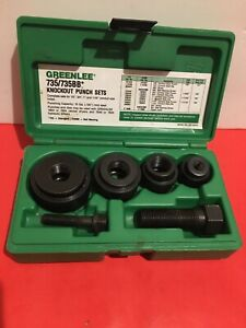 Greenlee 735 735bb Knockout Punch Set 1 2 3 4 1 And 1 1 4