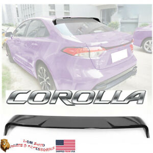 Fits Toyota Corolla 2020 2021 Sedan Gloss Black Rear Window Roof Spoiler