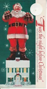 VINTAGE COCA-COLA BOTTLE TOPPER TWAS THE NIGHT BEFORE CHRISTMAS COPYRIGHT 1958
