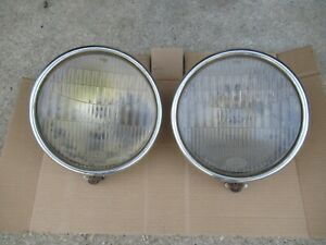 Vintage Pair Of Ford Model A Headlamps Headlights