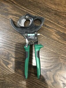 Sharp Used Greenlee Ratcheting Cable Cutters 45207 Electrical Tools