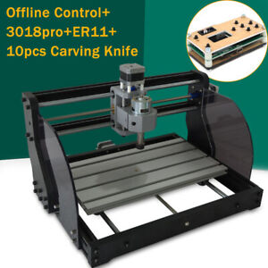 3 Axis Cnc 3018 Mini Router Pvc Pcb Wood Cutting Milling Machine offline Control