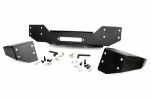 Rough Country Stubby Hybrid Front Bumper Fits 07 18 Wrangler Jk Winch Plate